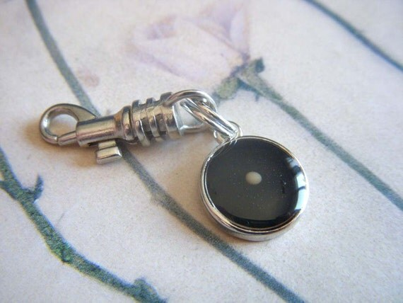 faith as small as a mustard seed - black resin mustard seed pendant charm, zipper pull, or keychain