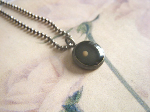 faith as small as a mustard seed...antique silver resin mustard seed pendant with ball chain necklace