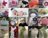 Crochet Pattern Sale Any 4 Crochet Patterns for 9.00