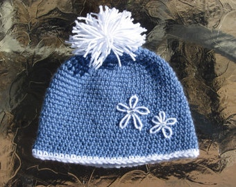 Classic Style Ski/Toboggan Hat, Crochet pdf pattern 5 Sizes newborn to adult