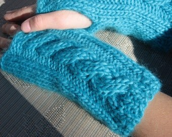 Simply Scruptious Fingerless gloves Knitting Pattern Pdf , Perfect match to Simply Scrumptious Cable Knit Headwarmer Pattern