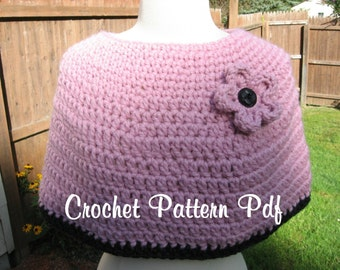 3 Hour Chunky Crochet Caplet, pdf Pattern, Instant Download Available