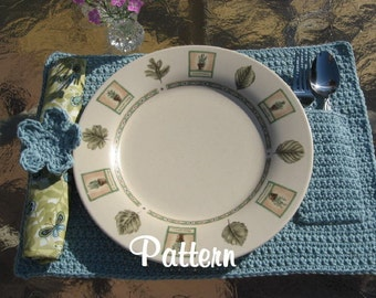 Classy Crochet Placemats, PDF Pattern, Instant Download Available