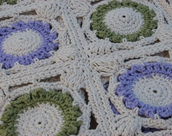 PDF Flora Bunda Crochet Throw Blanket Pattern