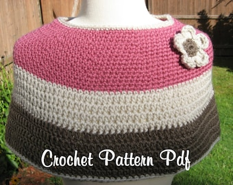 Cafe' Caplet, Crochet Pdf Pattern