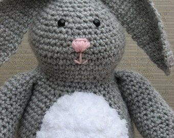 "Bunny Crochet Pattern pdf  ""Honey Bunny"" rabbit pattern, Instant download Available"