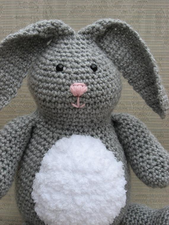 "Bunny Crochet Pattern pdf  ""Honey Bunny"" rabbit pattern, Instant download Available"