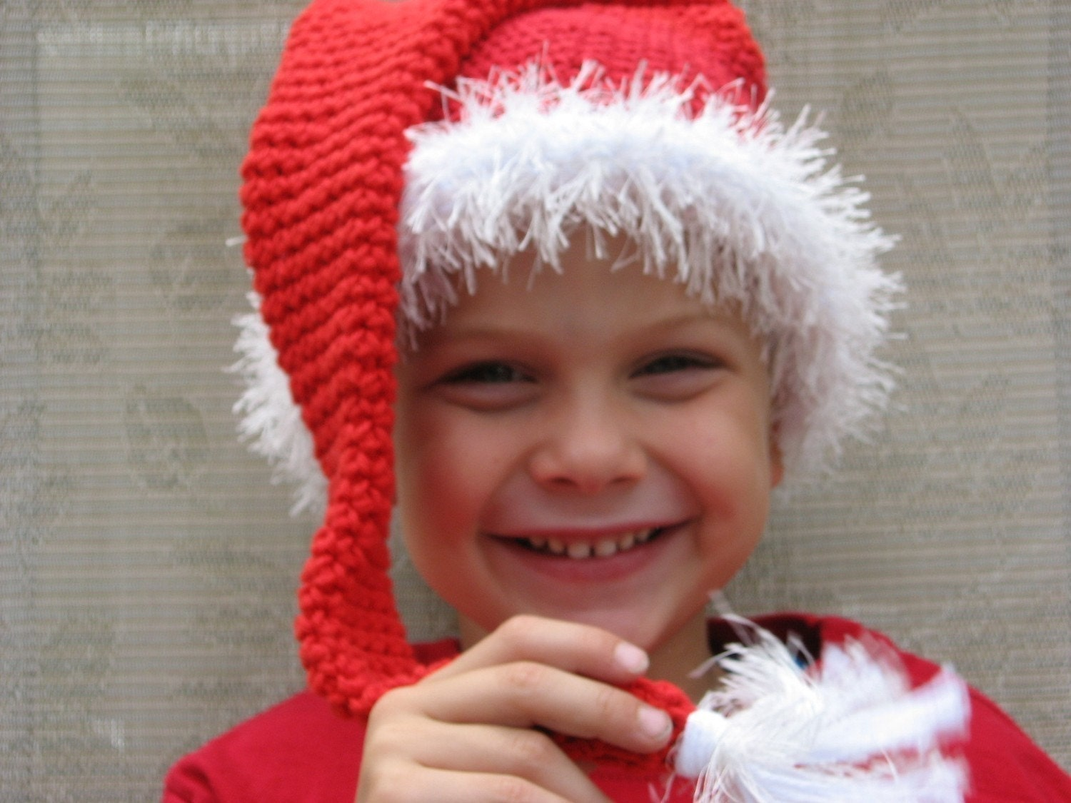 Crochet Tassel Hat Pattern For Baby : Santa Baby Long Tassel Hat Crochet Pattern Pdf Newborn to