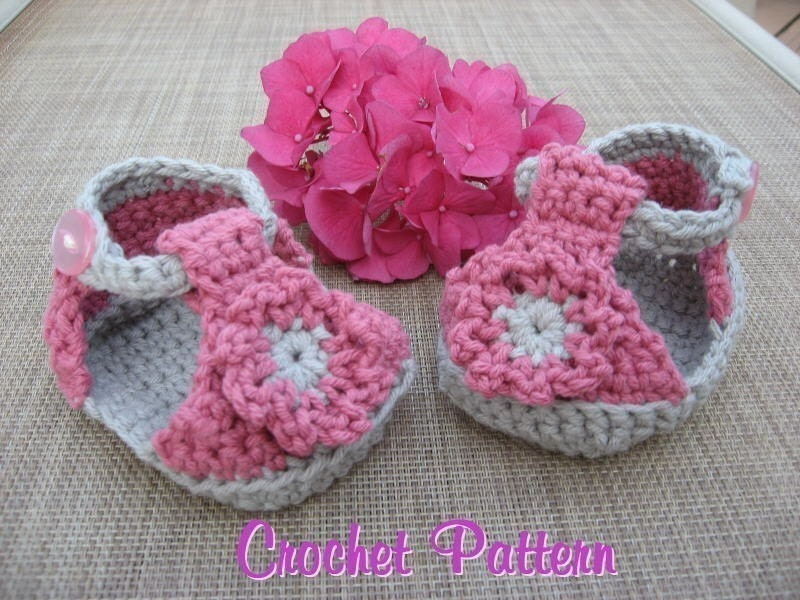 Baby Sandals Crochet Pattern Pdf super cute super easy