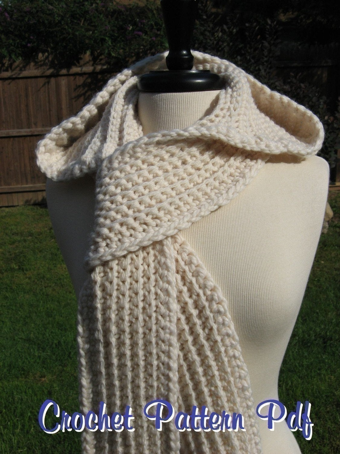 Free Knit Scoodie Pattern : Nordic Hooded Scarf Crochet Pattern Pdf instant download
