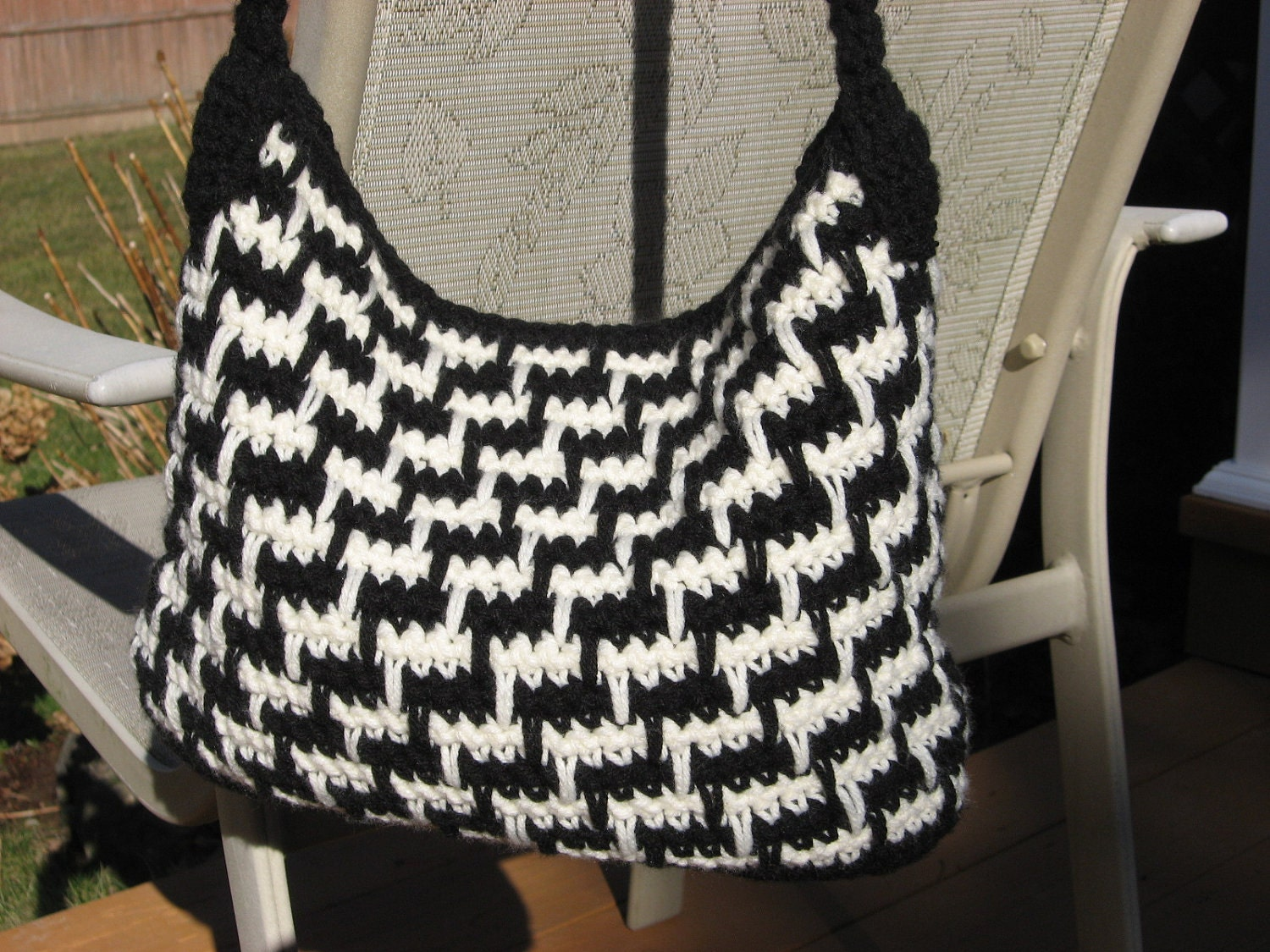 Crochet Handbag Pattern : Steppin Out Bag. Crochet Pattern Pdf Instant by nutsaboutknitting