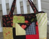 Large Quilted Tote Bag in Beautiful Arabella Fabric
