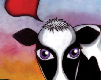 The Happy Cow - 8x10 SIgned Print