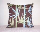 Pillow Chocolate Olive Robins Egg Blue Bamboo