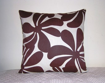Pillow Chocolate Florals n Turquoise Suzani