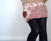 Upcycled Bohemian Romance Sweater Mini Skirt