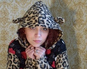 Cheetah Print Kitty Eared Hoodie