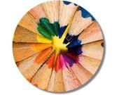 Pencil Color Wheel Round Mousepad