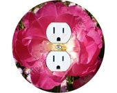 Double Tulip Flower Duplex Outlet Plate Cover