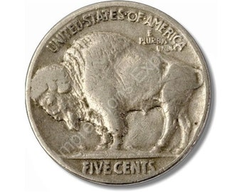Buffalo Nickel Coin Round Mousepad