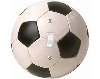 Soccer Sports Ball Single Toggle Switch Plate Cover A