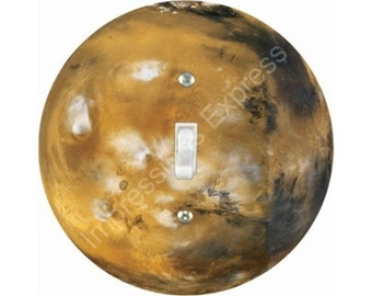 Planet Mars Space Single Toggle Switch Plate Cover