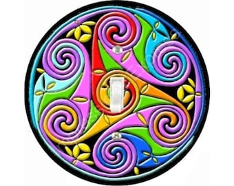 Celtic Triskel Single Toggle Switch Plate Cover