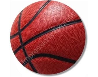 Burgundy Basketball Sports Ball Mousepad