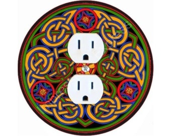 Celtic Knot Design Duplex Outlet Plate Cover