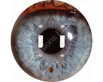 Eye Ball Double Toggle Switch Plate Cover