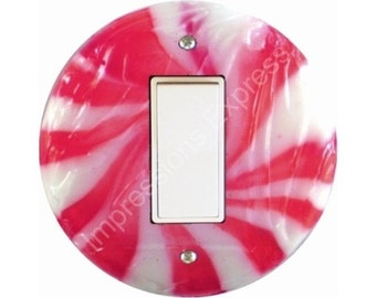Peppermint Candy Decora Rocker Switch Plate Cover