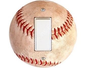 Baseball Ball Decora Rocker Switch Plate Cover