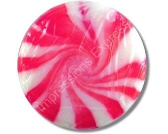 Peppermint Candy Round Mousepad
