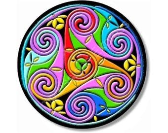 Celtic Triskel Round Mousepad