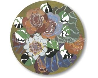 Floral Art Deco Art Nouveau Mousepad