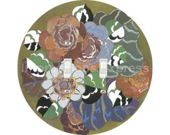 Floral Art Deco Art Nouveau Double Toggle Switch Plate Cover