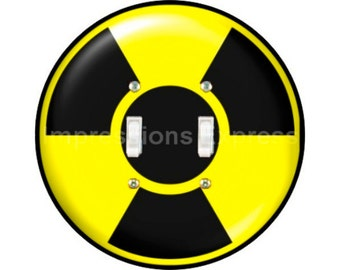 Radioactive Sign Double Toggle Switch Plate Cover