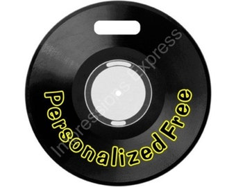 Vinyl Record Personalized Luggage Tote Bag Tag