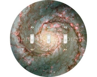 Whirlpool Galaxy Space Triple Toggle Switch Plate Cover
