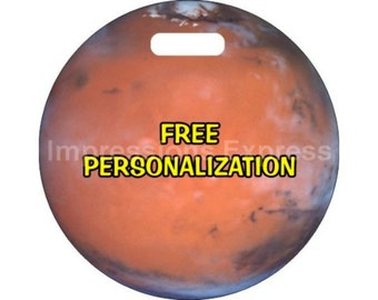 Red Planet Mars Space Personalized Luggage Bag Tag