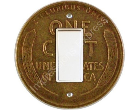 Wheat Penny Coin Decora Rocker Switch Plate Cover