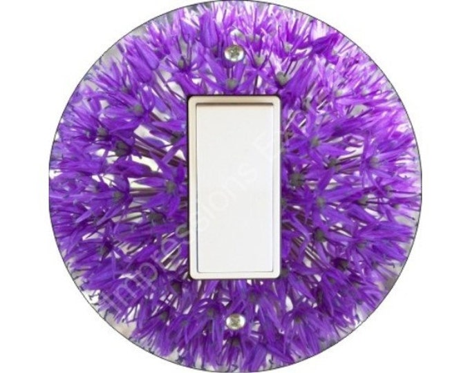 Purple Allium Flower Decora Rocker Switch Plate Cover