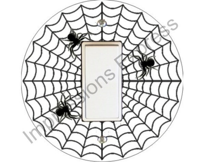 Spider Web Decora Rocker Switch Plate Cover