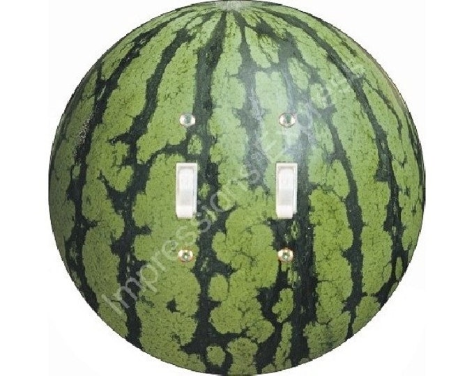 Watermelon Fruit Double Toggle Switch Plate Cover