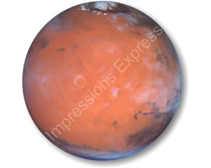Red Planet Mars Space Round Mousepad