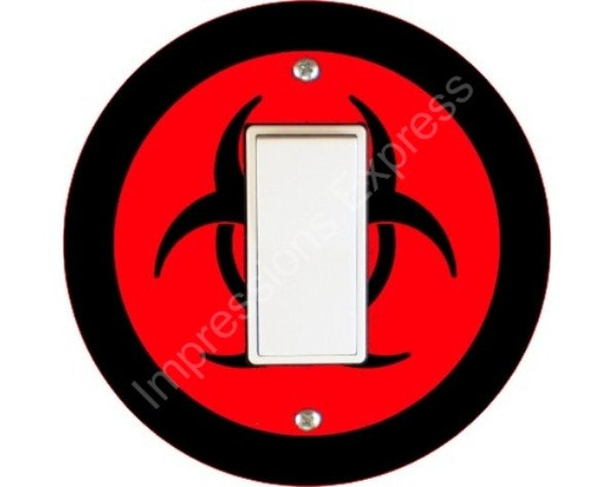 Biohazard Sign Decora Rocker Switch Plate Cover