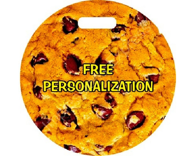 Chocolate Chip Personalized Cookie Luggage Bag Tag