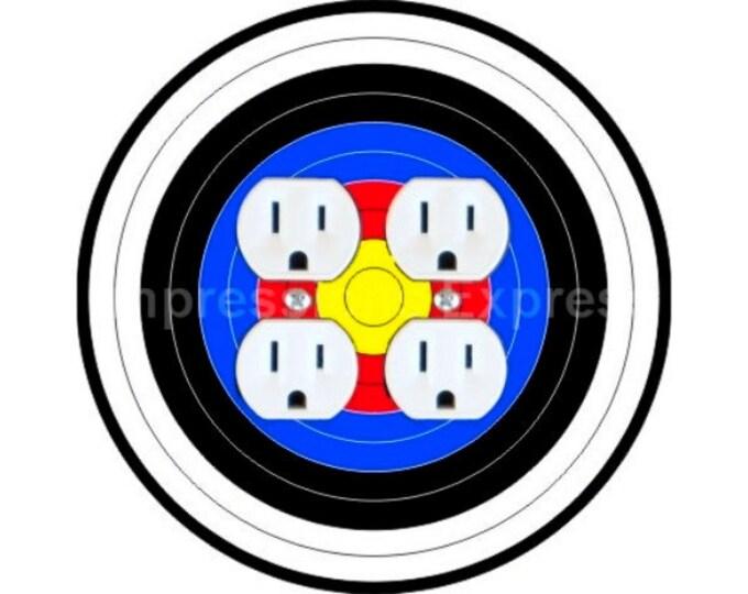 Archery Target Double Duplex Outlet Plate Cover