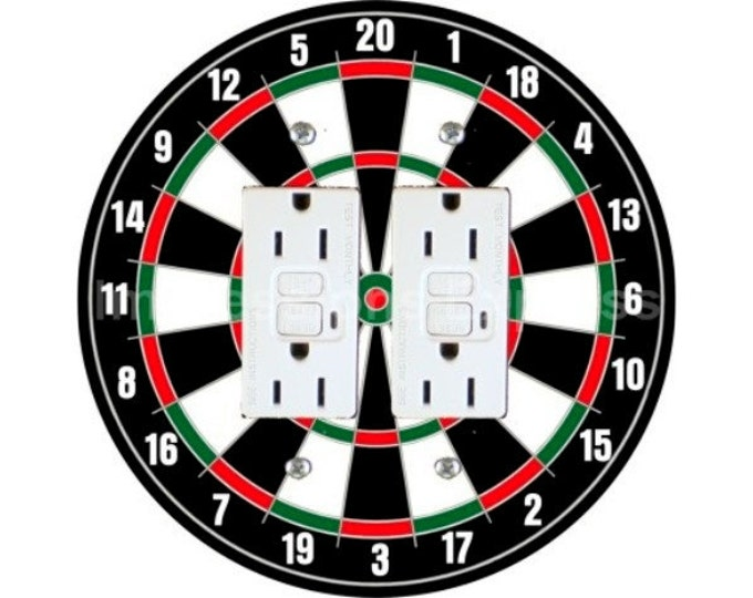 Darts Dartboard Double GFI Outlet Plate Cover