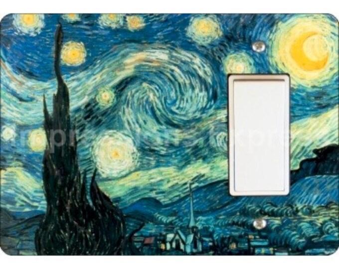 Starry Night Van Gogh Painting Decora Rocker Light Switch Plate Cover